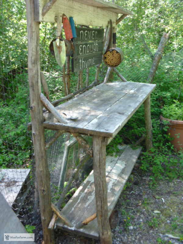 Potting Benches play a huge part in my rustic garde
