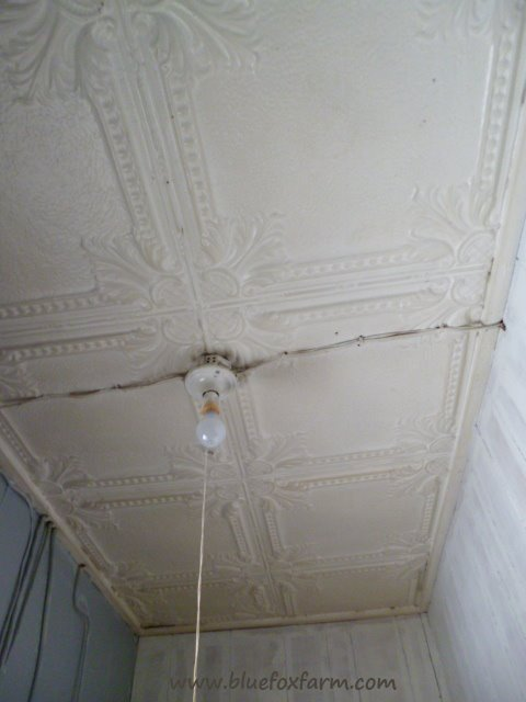 The Real Thing; pressed tin ceiling tiles...