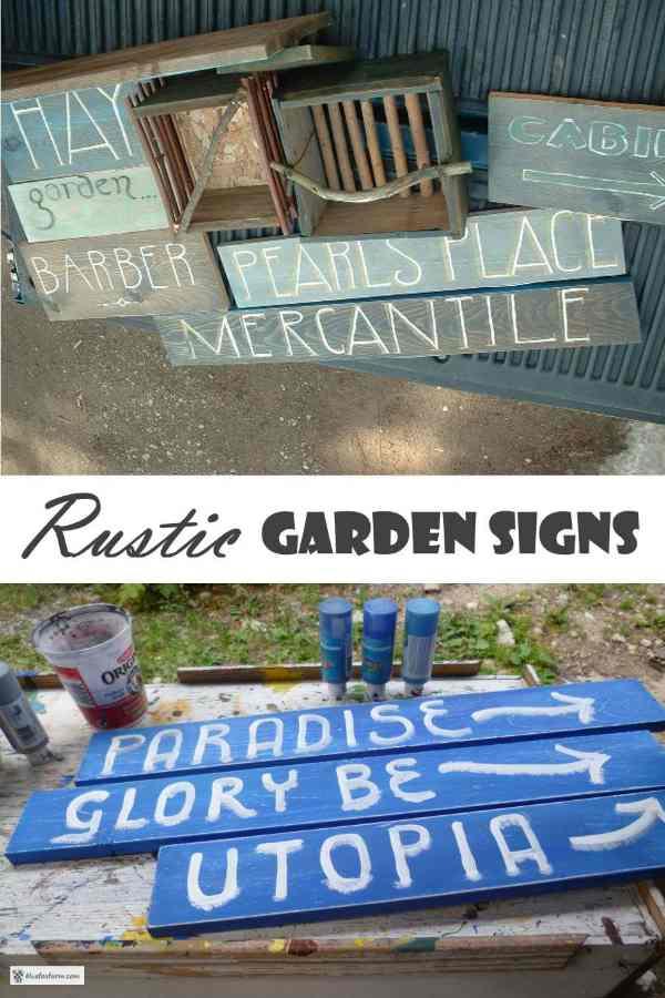 Rustic Garden Signs - more DIY Garden Art