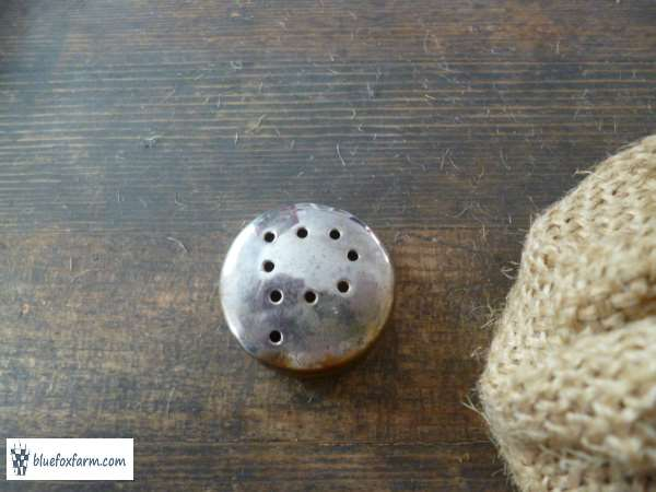 gather the pepper pot shaker for the top