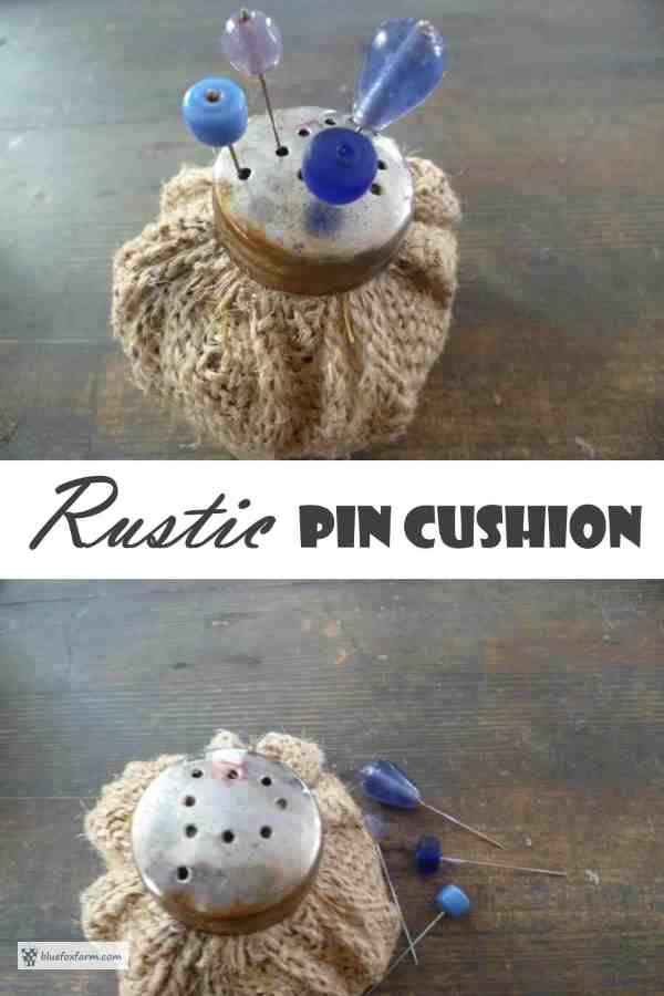 Rustic Pin Cushion