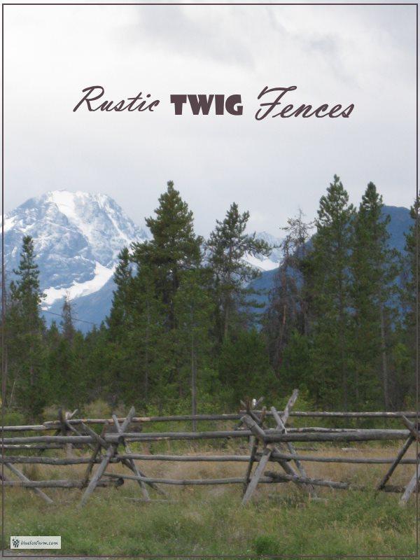Rustic Twig Fences