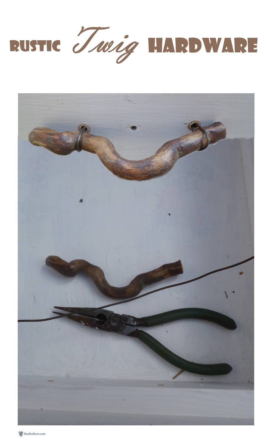 DIY your own Rustic Twig Hardware