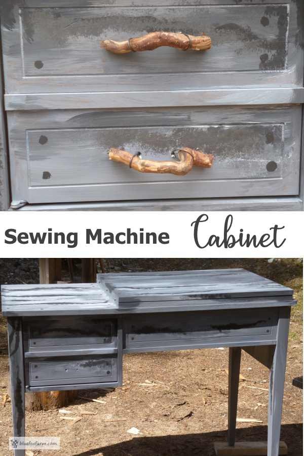 Upcycled Sewing Machine Cabinet