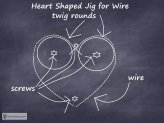 How to Make a Quick Wire Heart Shaping Jig