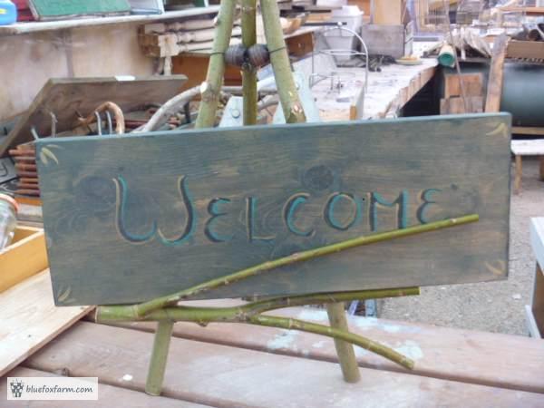 Twig Easel - a great rustic display prop