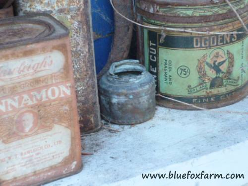Dinged, weathered and battered, these vintage tins are precious...