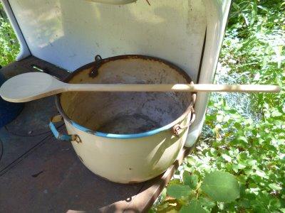 Pig slop enamel ware pan