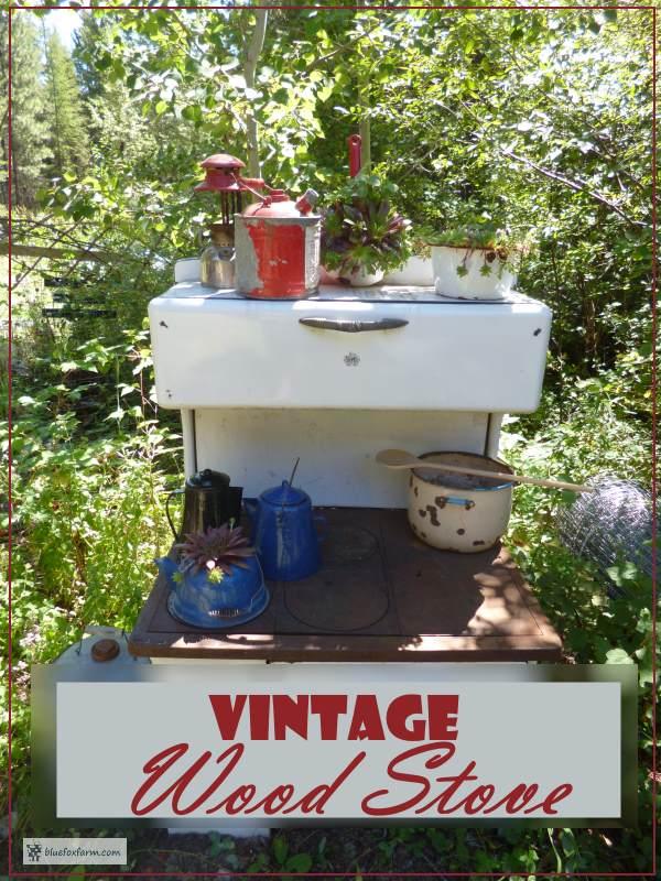 Vintage Wood Cook Stove - rustic junk