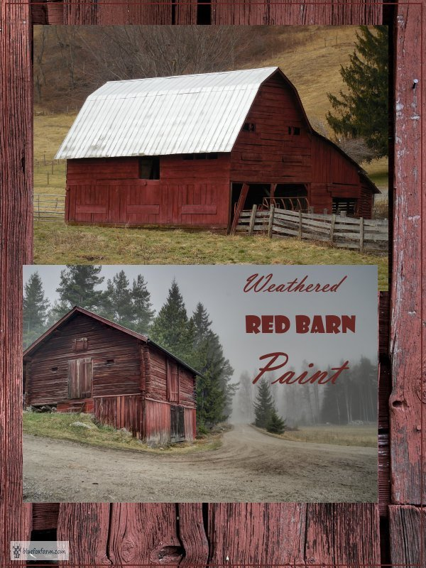 Weathered Red Barn Paint - vintage, copyable, and gorgeous... Rustic Crafts | Rustic Paint Techniques