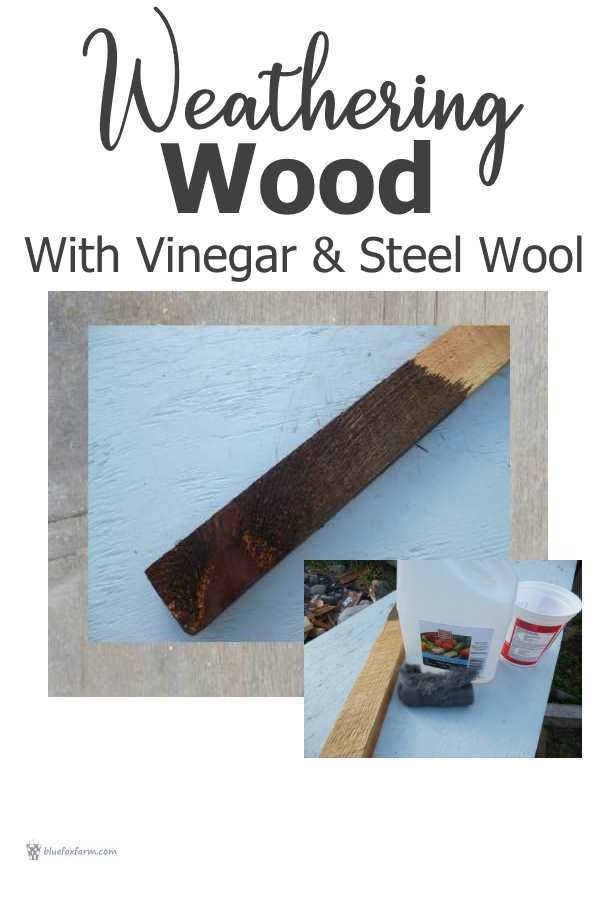 Weathering wood with two simple ingredients...
