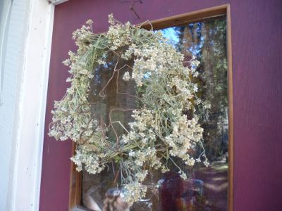 Weedy Wreath to add a rustic touch...