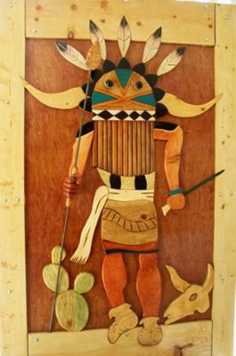 rustic wooden art